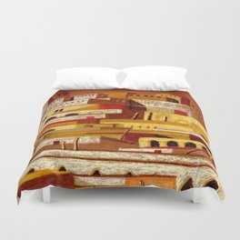 The fortress at sunset Duvet Cover