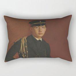 Edgar Degas - Achille De Gas in the Uniform of a cadet Rectangular Pillow