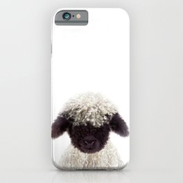 Baby Lamb, Baby Animals Art Print By Synplus iPhone Case
