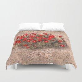 Sandia Cactus Flowers Duvet Cover