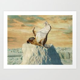 Greetings From The Arctic Art Print