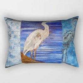 Blue Heron Rectangular Pillow