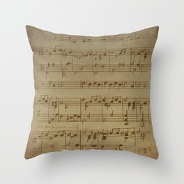 Steam punk | Vinatage music | Vintage notes | music Decor | Music Design Throw Pillow