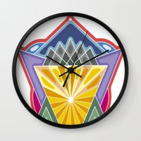 crown Wall Clocks featuring Crown by Losal Jsk