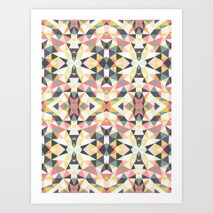Deco Tribal Art Print