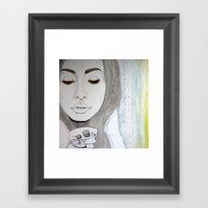 We remain embarrassed to be human Framed Art Print