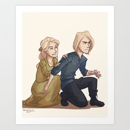 Little Aelin and Aedion Art Print
