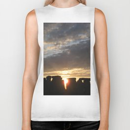 Sunset at Stonehenge Biker Tank