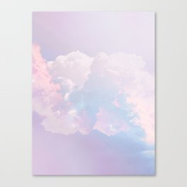 Whimsical Pastel Candy Sky #surreal #society6 Canvas Print