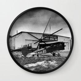 omaha airfield airplain hangar Wall Clock