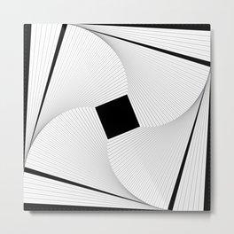 Squares 2 Black and White Metal Print