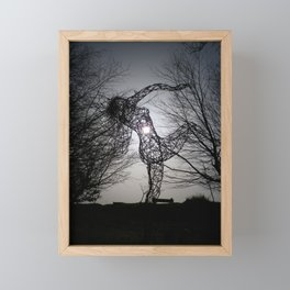 AN ECLIPSE OF THE HEART FOR THE JOY OF SPRING WIRE SCULPTURE Framed Mini Art Print
