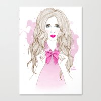 bow Canvas Prints featuring Bow by Crecre