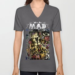 MAD ALICE: HATTER Unisex V-Neck