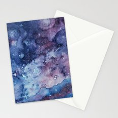 Galaxy , space , universe 3 Stationery Cards