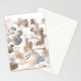 180630 Abstract Watercolour Black Brown Grey Neutral 17| Watercolor Brush Strokes Stationery Cards