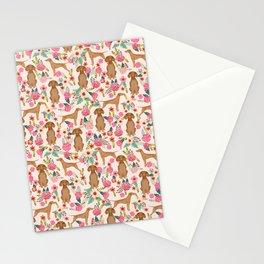 Vizsla florals dog pattern dog gifts dog breeds pet portraits by pet friendly Stationery Cards
