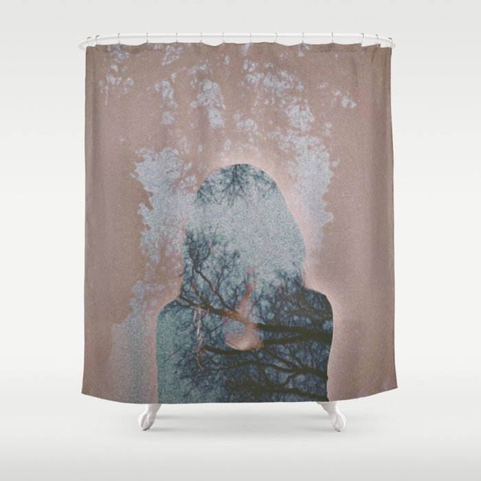 Hiding Behind Shower Curtain