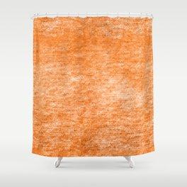Neon Orange Textured Metallic Foil Shower Curtain