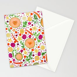 Fruits and vegetables pattern (19) Stationery Cards