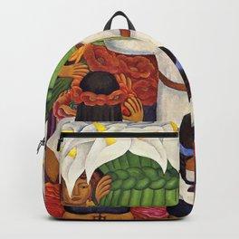 Flower Festival No. 2 - Feast of Santa Anita by Diego Rivera Backpack