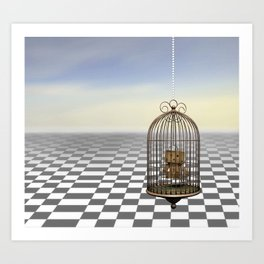 Living in a golden cage Art Print
