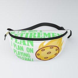 Pickleball Gift Pickleball Retirement Plan Design Fanny Pack