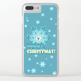 Fun snowflake Clear iPhone Case