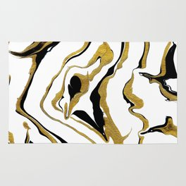 Gold And Black Opulence Rug