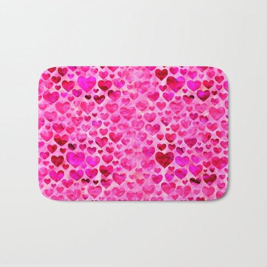 Heart Pattern 07 Bath Mat