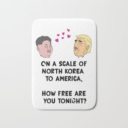 North Korea to America Bath Mat