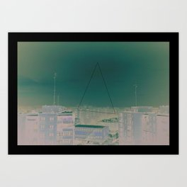 Bucharest Triangle Art Print