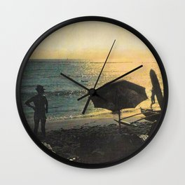 Waikiki Beach Picnic at Sunset Hawaii Wall Clock
