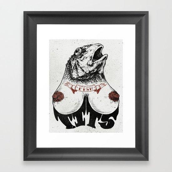 Fishtits Framed Art Print