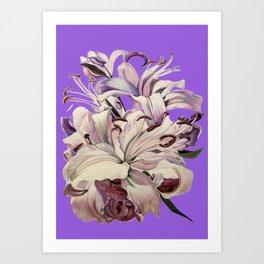 """Purple Lilies"" Art Print"
