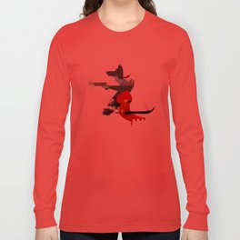 Red Hood & The Badass Wolf Redux Long Sleeve T-shirt