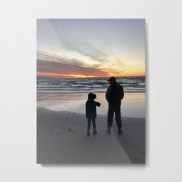 Boy and Dad on Cape Cod Metal Print