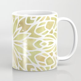 Mandala Yellow Sunflower Coffee Mug