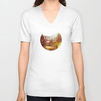 yosemite V-neck T-shirts featuring Yosemite Falls by Loaded Light Photography