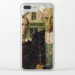Vegan Gothic Fine Art Parody Clear iPhone Case