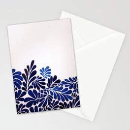 Blue Leaf Stationery Cards