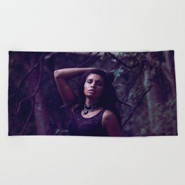 Secret beach trail Beach Towel