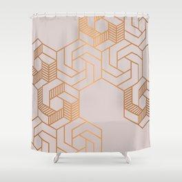 Hex 612 Copper Shower Curtain