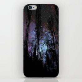 Black Trees Dark Space iPhone Skin