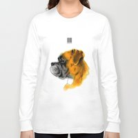 boxer Long Sleeve T-shirts featuring Boxer by Det Tidkun