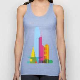 Shapes of Hong Kong. Accurate to scale Unisex Tank Top