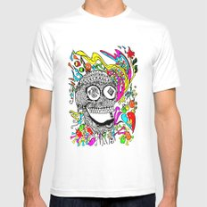 The Candy Skull Mens Fitted Tee White MEDIUM