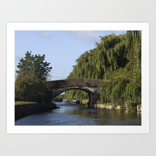 Canal bridge Art Print