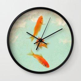 Goldfish in the sky Wall Clock