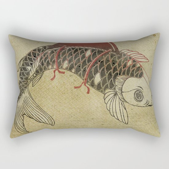 Koi Shark Fin 02 Rectangular Pillow